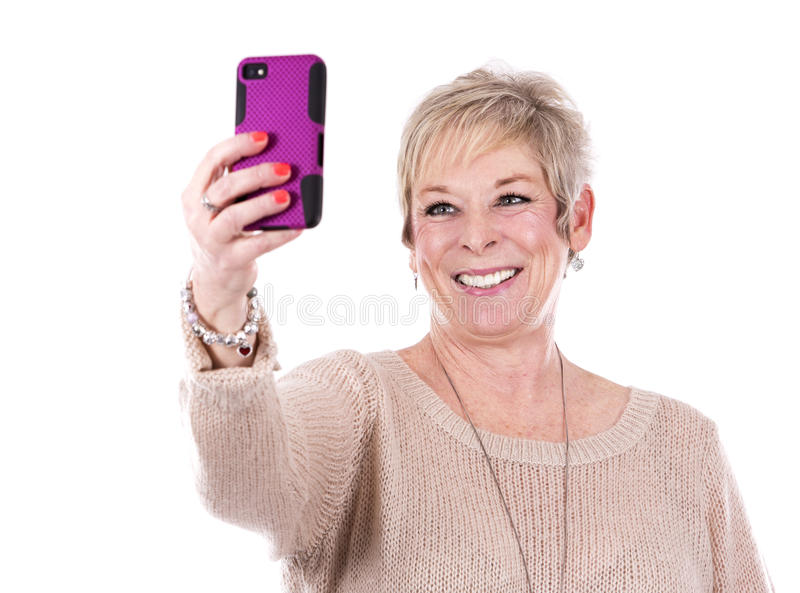 casual mature woman στοκ φωτογραφίες