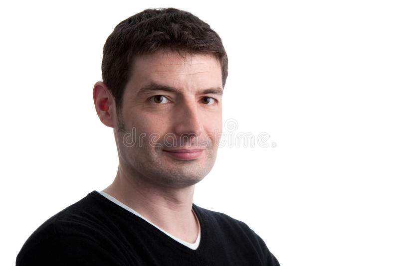 Casual Mid Thirties Man Stock Photo Image Of Sweater 12361632