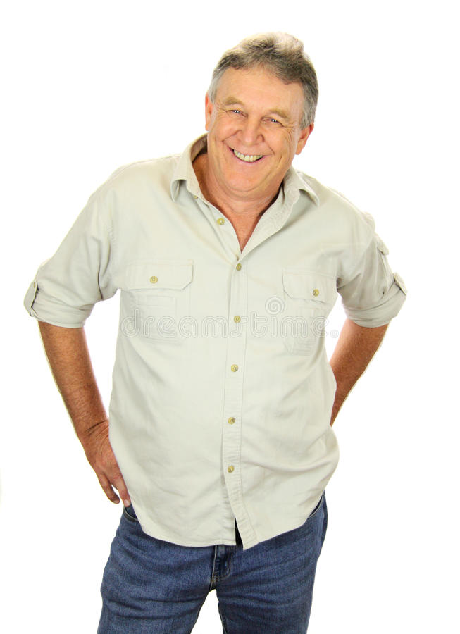 Casual Middle Aged Man royalty free stock photo