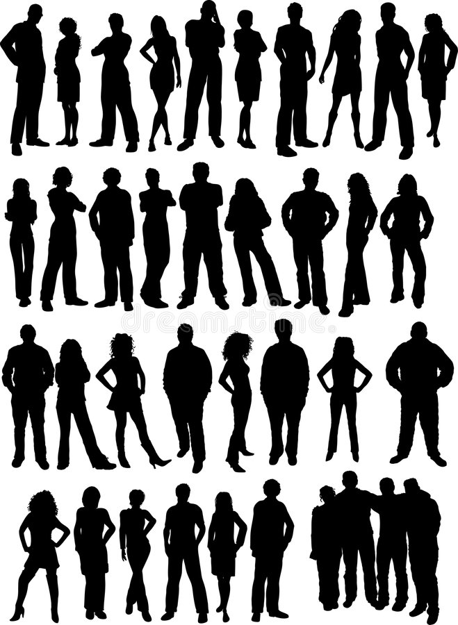 Casual people vector illustration