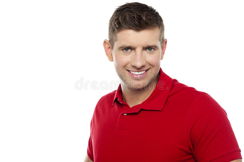 Casual portrait of cheerful young man stock photography
