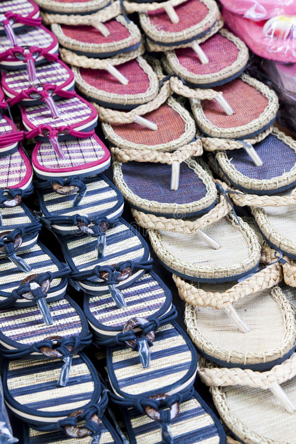 Download Casual Slippers stock photo. Image of sale, sandals, display - 14298174