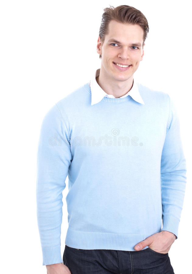 Casual, Smiling Young Man