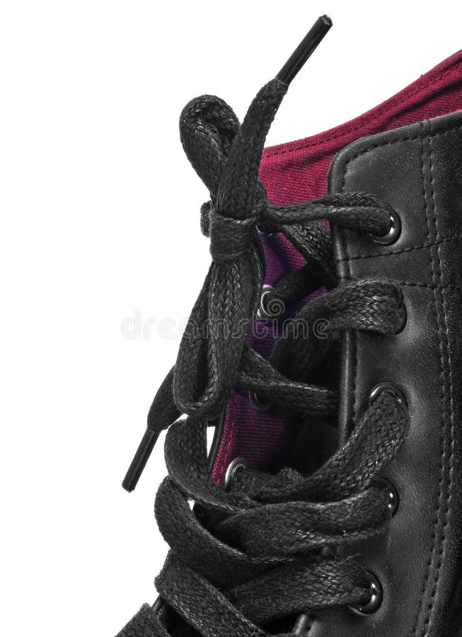 Casual sneaker boot stock photography