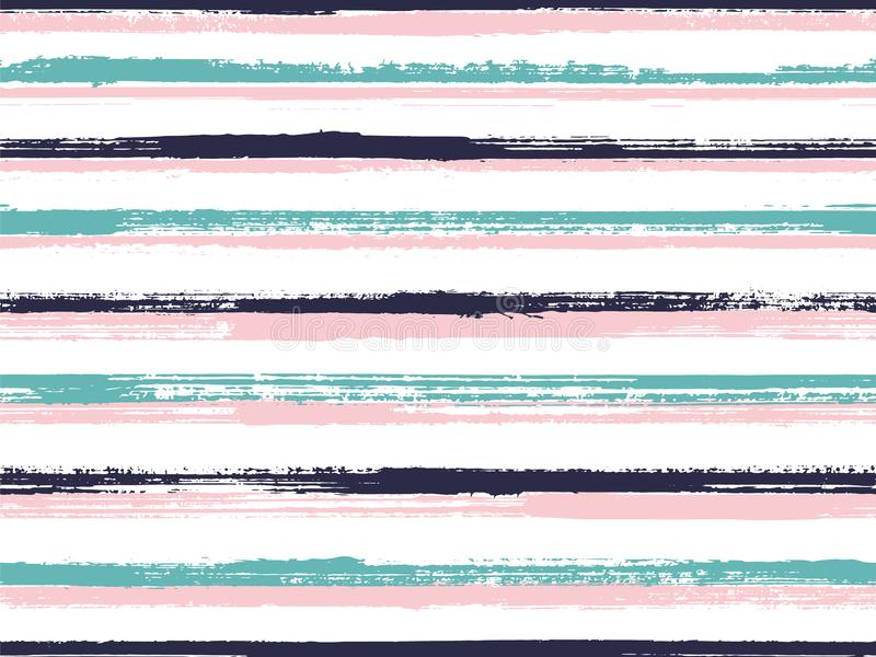 Casual stripes interior wallpaper seamless pattern. royalty free illustration