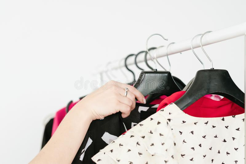 Casual style image trendy look clothes assortment royalty free stock image