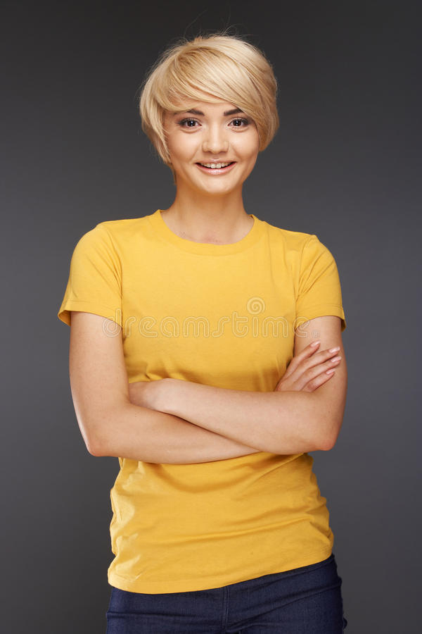 Casual Style Woman Royalty Free Stock Photos