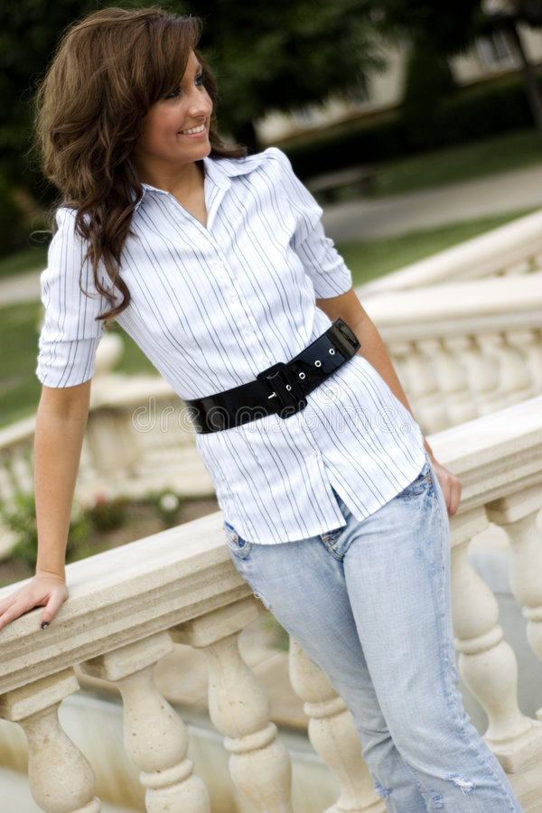 Download Casual Teen Fashion Model stock photo. Image of gorgeous - 3413078