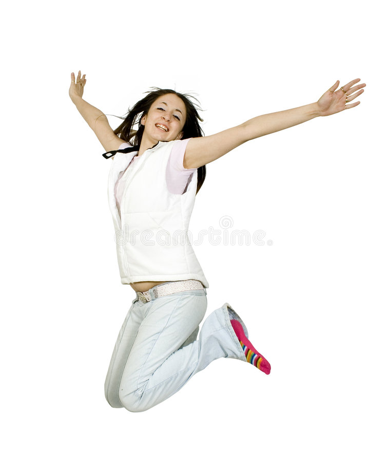 Download Casual teen jumping of joy stock photo. Image of casual - 793490
