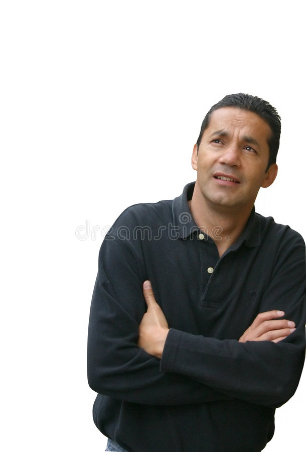 Download Casual thoughts stock photo. Image of hoping, male, pose - 108546