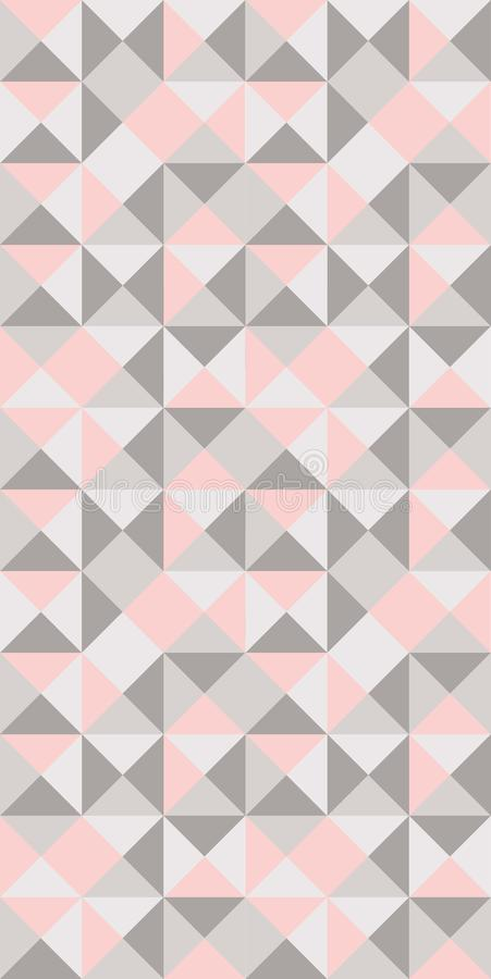 Casual triangles in pastel pink and light grey seamless pattern royalty free illustration