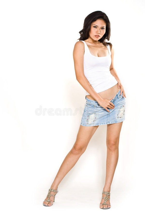 Download Casual wear asian woman stock photo. Image of emotion - 6981314