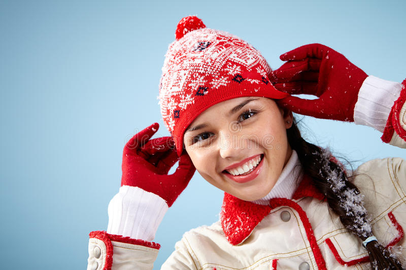 Casual winter style royalty free stock images