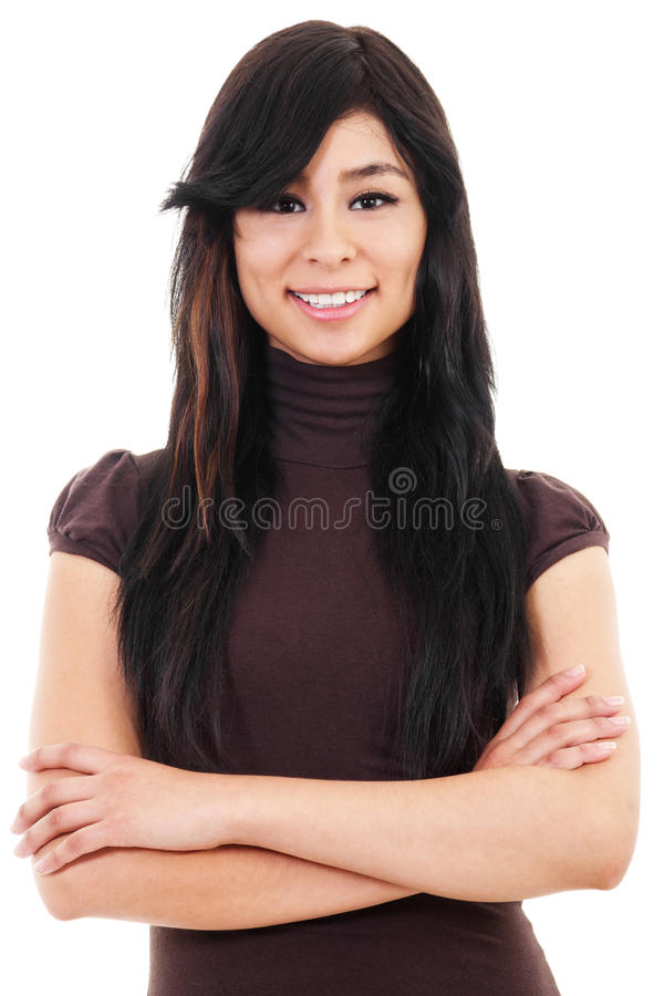 Download Casual Woman stock photo. Image of brunette, cheerful - 26295080