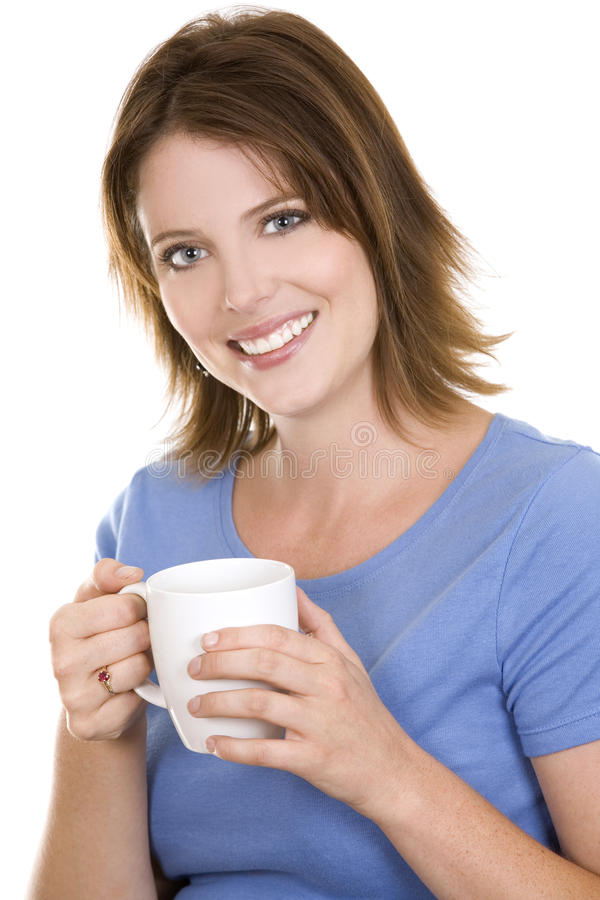 Casual Woman With Coffee Royalty Free Stock Photography