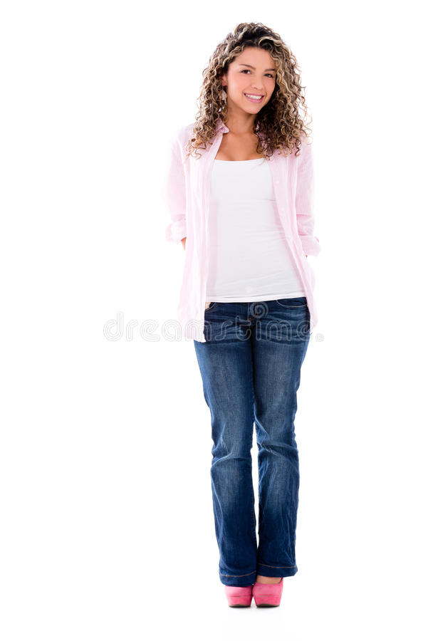 Download Casual woman hiding hands stock photo. Image of adult - 32241904