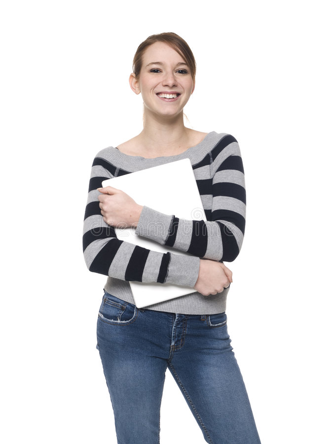 Casual Woman - Laptop stock photo
