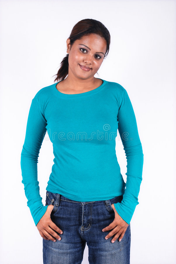 Download Casual woman portrait stock image. Image of clothing, relaxed - 4199807