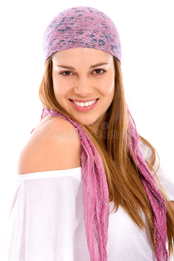 Download Casual woman portrait stock photo. Image of casual, isolated - 7397654