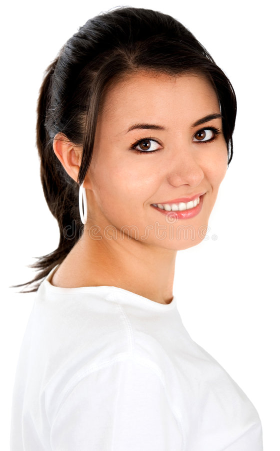 Download Casual Woman Portrait - Smiling Stock Image - Image: 4026399