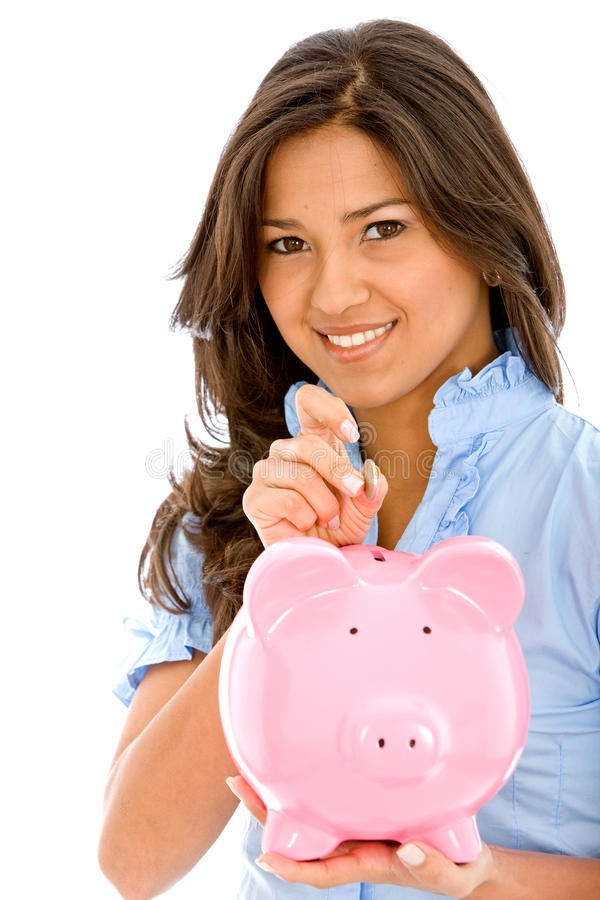 Download Casual woman saving money stock image. Image of professional - 9619961