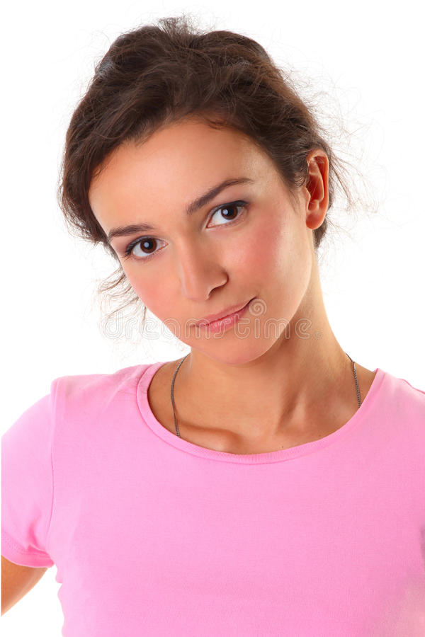 Download Casual woman smiling stock photo. Image of fashion, attractive - 16309948