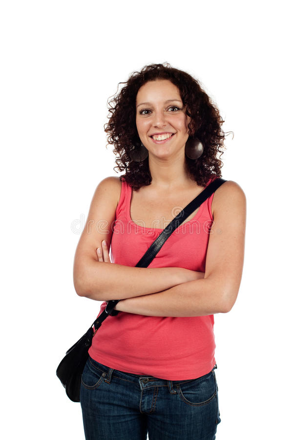 Download Casual woman smiling stock image. Image of jeans, clothing - 25596121