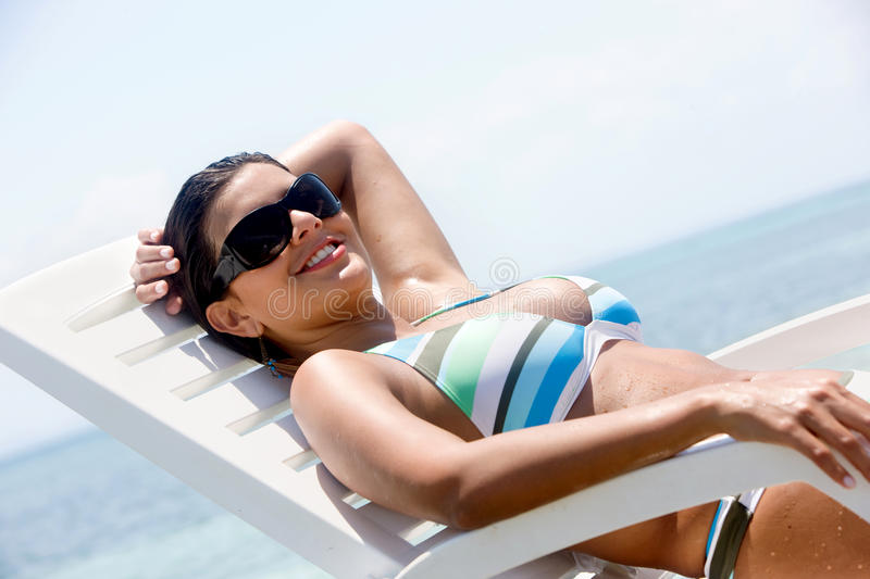 Download Casual woman on vacation stock photo. Image of girl, brunette - 11748296