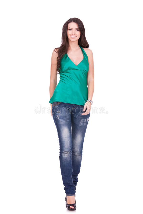 Download Casual woman walking stock photo. Image of length, casual - 22088590