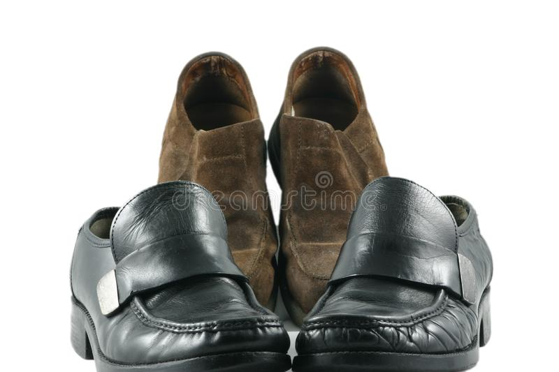 Casual and work shoes royalty free stock image