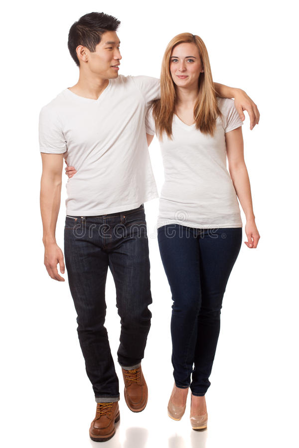 Download Casual Young Couple stock photo. Image of blue, white - 29040252