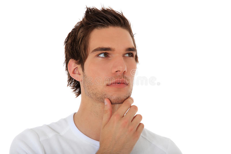 Download Casual Young Guy Deliberates A Decision Stock Photography - Image: 19924102