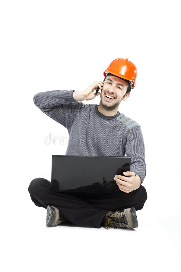 Download Casual Young Guy With Laptop Stock Image - Image of lifestyle, handsome: 20230477