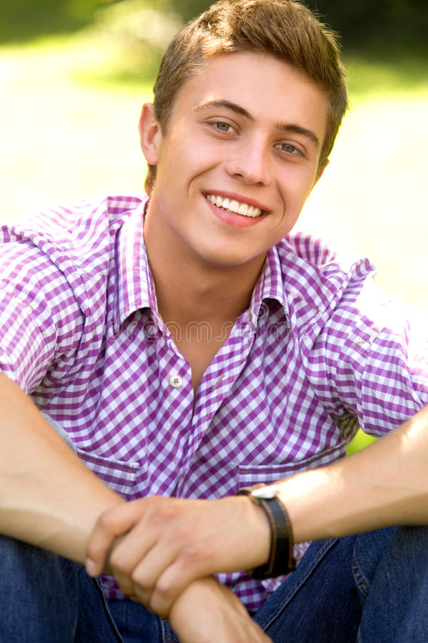 Download Casual young man stock image. Image of happy, teens, outdoors - 15170689