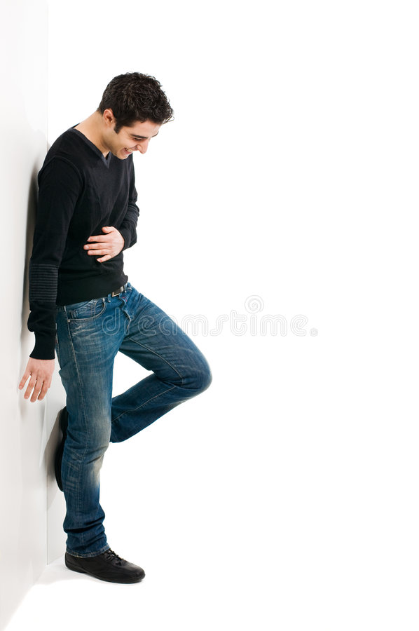Download Casual young man stock photo. Image of board, laugh, background - 8585882