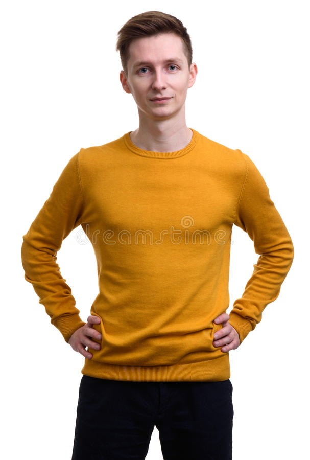 Casual young man isolated royalty free stock image