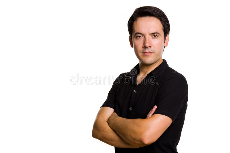 Casual young man portrait stock photos
