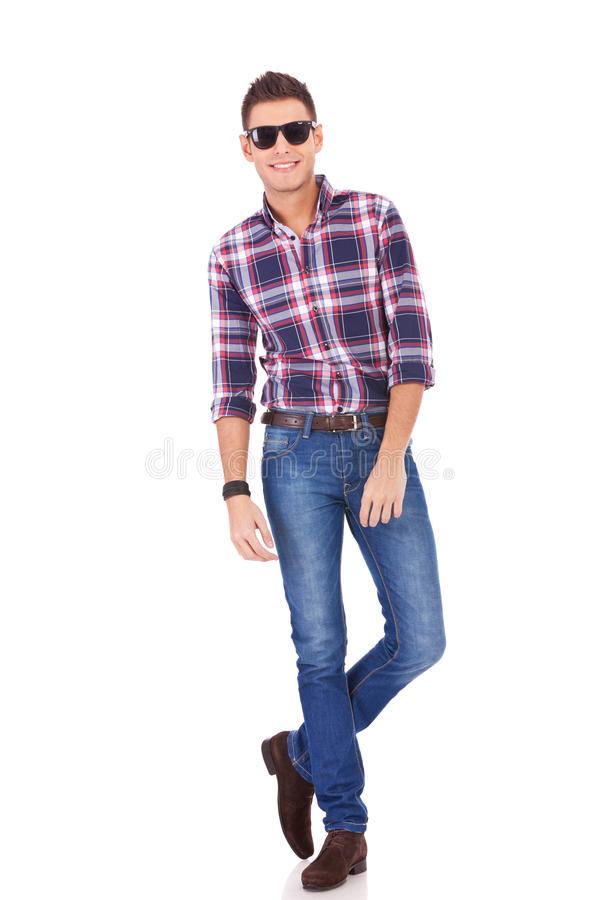 Casual Young Man Wearing Sunglasses Royalty Free Stock Photos