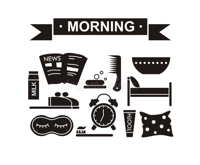 Casuale nero stabilito di mattina fotografia stock