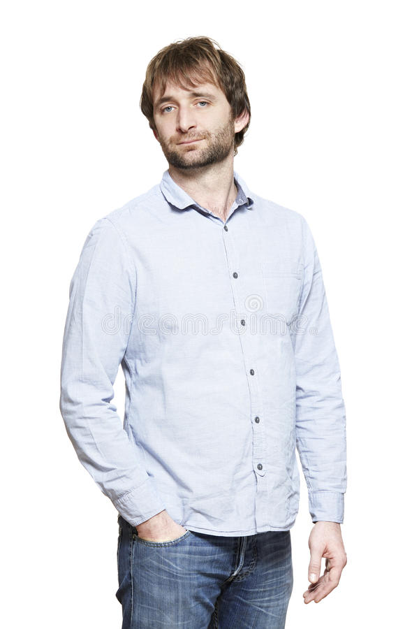 Free Casually Dressed Man Smiling Royalty Free Stock Photography - 30195687