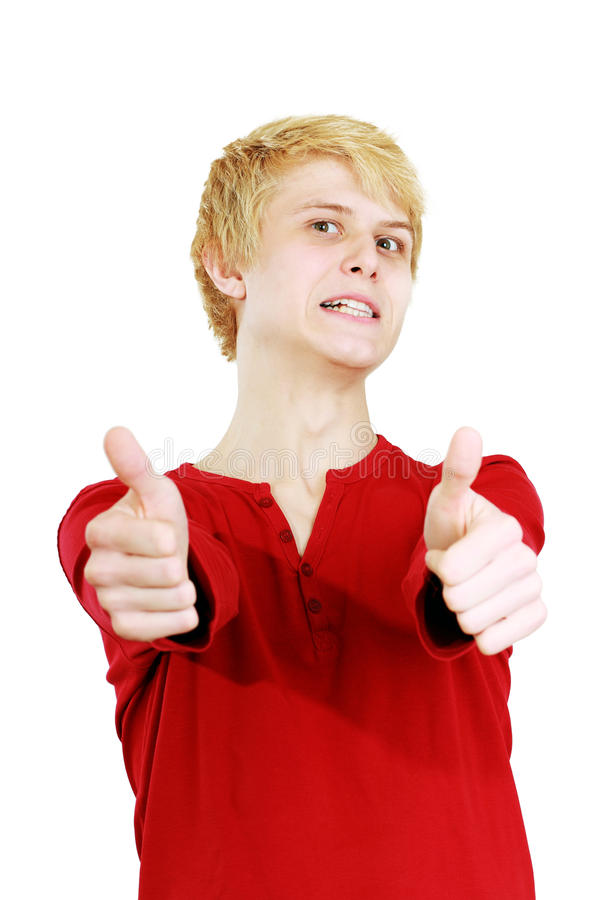 Young Man Making A Silly Face Stock Photography