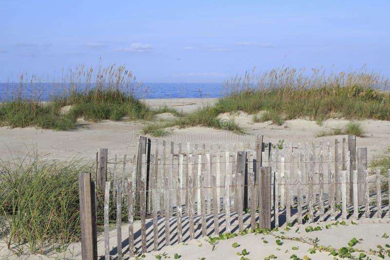 Caswell strand, NC-land och Seascape royaltyfri foto
