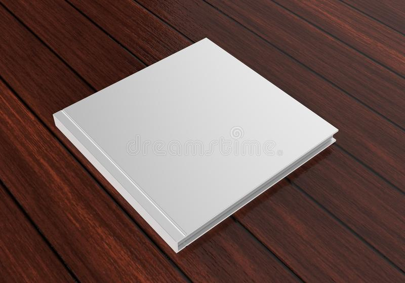 Catálogo branco vazio, compartimentos, livro para a apresentação ascendente do projeto da zombaria 3d rendem a ilustração ilustração do vetor