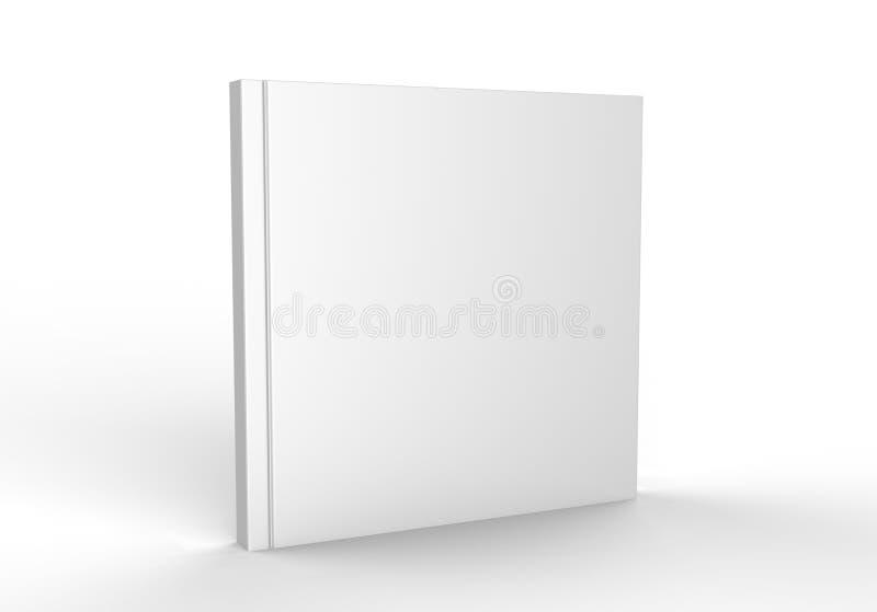 Catálogo branco vazio, compartimentos, livro para a apresentação ascendente do projeto da zombaria 3d rendem a ilustração ilustração stock