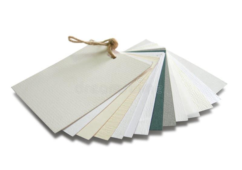 Catálogo de papel con las muestras con varias texturas fotos de archivo libres de regalías