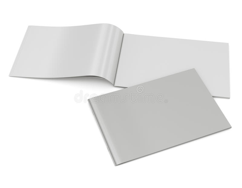 Catálogo en blanco en el tamaño horizontal A4 foto de archivo