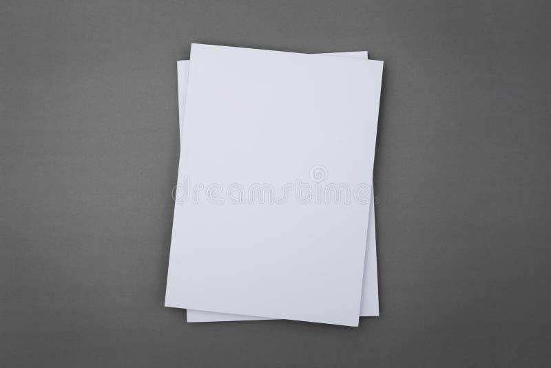 Catálogo en blanco, folleto, revistas, libro foto de archivo libre de regalías