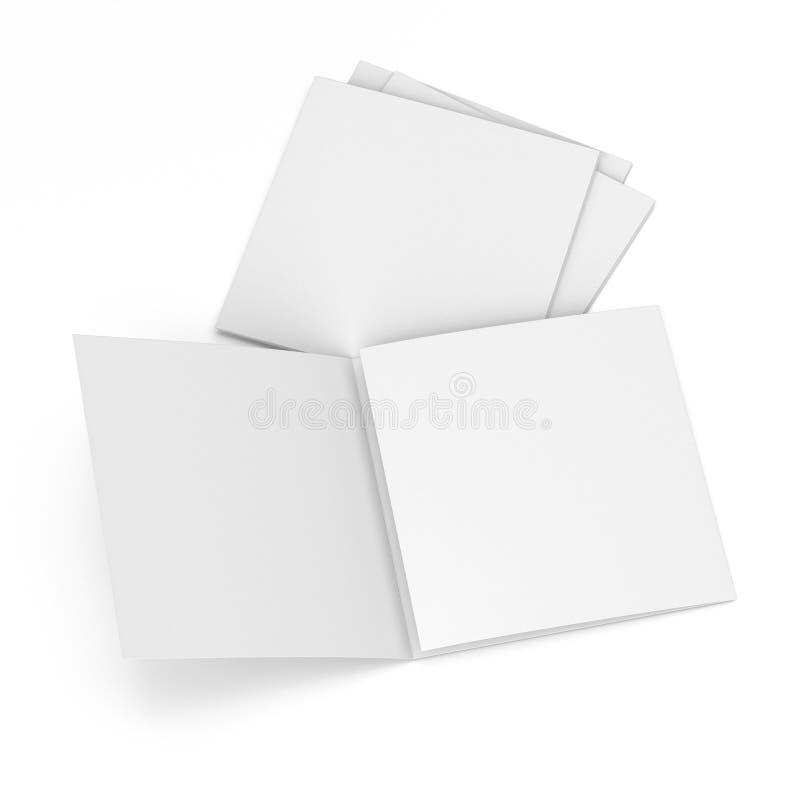 Catálogo quadrado da placa do formato ilustração royalty free