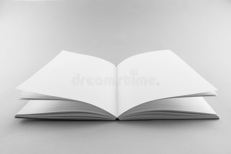 Catálogo vazio, compartimento, molde do livro com sombras macias pronto fotografia de stock