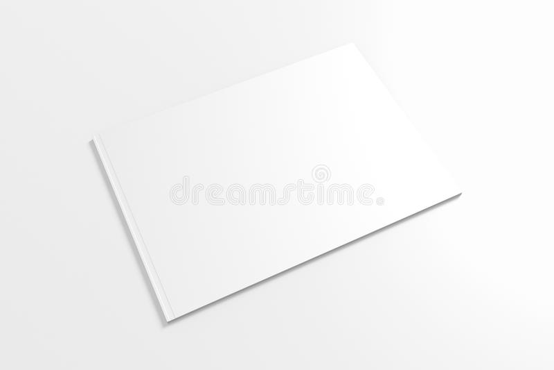 Catálogo vazio de Lanscape isolado no branco ilustração royalty free